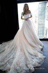 Schulter-Kugel-Hochzeit Kleid Sheldon von Olivia Bottega. Spitze Brautkleid. Prinzessin Brautkleid. Mod Brautkleid