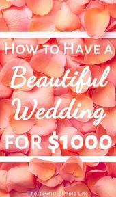 So heiraten Sie für $ 1000
