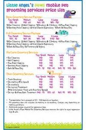 Dog Grooming Price List Templates From HttpWww