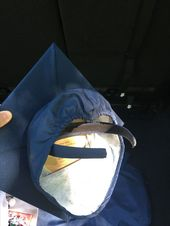Graduation cap hack! Glued a headband with e6000 glue. #curlyhair #graduationca
