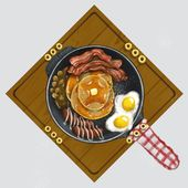 Design a yummy and fun boardgame layout about pancakes Illustration or graphics contest #Sponsored winning#design#illustration#kai