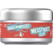 Wella Shockwaves Haare Styling Messy Matt Clay 75 mlParfumdreams.de