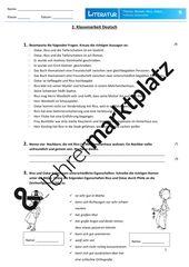 Klassenarbeit Rico Oskar Und Die Tieferschatten Unterrichtsmaterial Im Fach Deutsch Klassenarbeiten Nachhilfe Mathe Erste Klasse