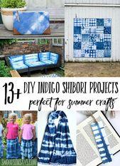 DIY Indigo Shibori Tutorials