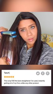 Revolutionary Straightener Tames Frizzy Hair Instantly!
