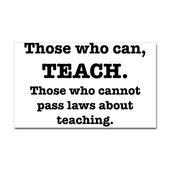 instructing Sticker (Rectangle) These Who Can, Train Sticker (Rectangle) by heyitsmyusername – CafePress