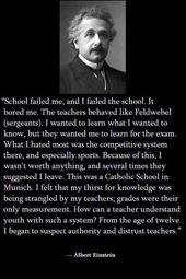 Nur Albert Einstein, der auf etwas Wissen verzichtet