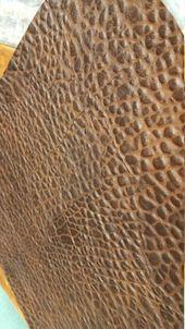 8 x 11 Distressed Chocolate Brown Kunstleder Blatt für Bögen und Schmuck