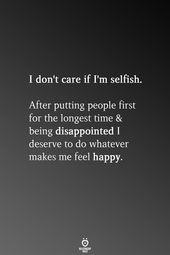 I Don't Care If I'm Egocentric