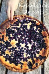 Un pastel de queso rápido con arándanos   Solo normal mamá   – Meine Blog Posts