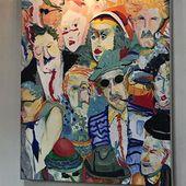 #menschen#acryl#Acryl auf Leinwand#gemälde#kunst# #auf #leinwandgemäldebunt – Kunst Acryl