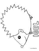 Igel Malvorlage Igelbastelnfensterbild Igel Malvorlage Hedgehog Colors Hedgehog Drawing Coloring Pages