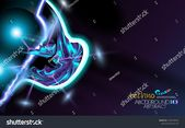 Neon glowing hi-tech futuristic abstract background. Design Sample of alien technology. Layout cover violet and black corporate technology. Vector fut…