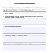 Community Needs Assessment Form This Or That Questions Assessment