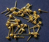 100 Ball head pins white gold plated jewelry dangle head pins 2 in long fps083