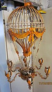 Vintage italian gilt tole hot air balloon lead crystal laiden vintage italian gilt tole hot air balloon lead crystal laiden chandelier curatable lighting pinterest vintage italian hot air balloons and air mozeypictures Images