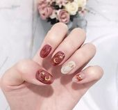 Super schönes Nagelbild, einfach und frisch, sehr schön, ich glaube, jedes Mädchen wird es mö …  – Kawaii nails