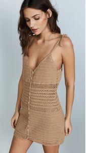 She Made Me Sita Cotton Crochet Mini Dress | SHOPBOP