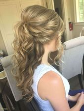 : Inspirational half to half wedding hair with flowers – new hairstyles 2019 – inspiring half to half wedding hair with flowers #fine hair …