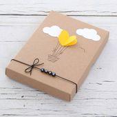 Geschenkkartons Geschenkbox Herzballon ein Designerstück von blende11 bei