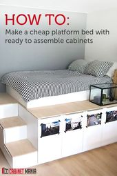 Get a unique look and extra storage when you build this simple and affordable shelf …   – home sweet home