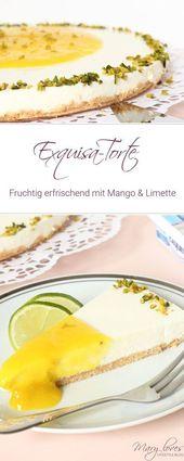 Fruchtig erfrischender Exquisa Kuchen mit Mango und   – Torten Rezepte