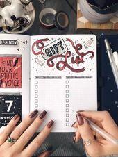 Feiertagsgeschenkliste Bullet Journal Layout