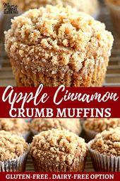 Photo of Easy Gluten-Free Apple Cinnamon Crumb Muffins {Dairy-Free Op…