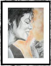 Michael Jackson – Zeichnung, Unikat, Drawing, Bild, Fine Art, Porträt – #drawing #jackson #michael #portrat #unikat