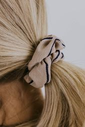 Capri Stripe Single Scrunchie
