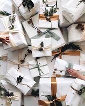 """Idée emballage cadeau green • Pour être encore plus """"green"""" : recyclez la fa…"""