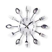 Happy Larry Mack Silver Cutlery 32cm Wall Clock