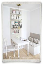 Shabby Look: DIY in the Kitchen Nook-cute! Looks like they took kids toy boxes