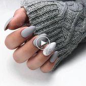 61 Die trendigsten Mandelmatten-Nagelideen für Herbst und Winter #herbst # idea   – Trendy Nails