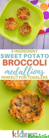 5 ingredient sweet potato and broccoli medallions #KetoDiet #KetosisDiet #KetoDietPlan