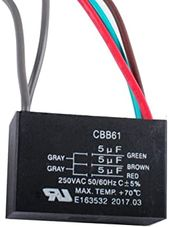 Wadoy Cbb61 5 Wire Ceiling Fan Capacitor Compatible With New Tech 5 5 5uf 50 60hz 250vac Ceiling Fan Ceiling Fan Switch Ceiling Fan Remote Controls