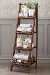 Lieben Sie diese Leiter für vertikale Lagerung im Badezimmer! Lesen Sie den Art… – Badezimmer Klein