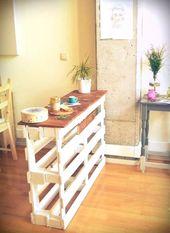 21 Möglichkeiten, eine Holzpalette zu recyceln, ganz gleich, ob Sie Spaß haben …  – Holzideen für Zuhause