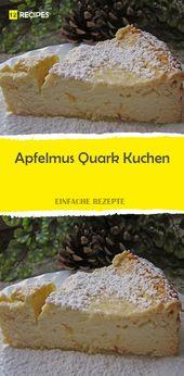 Apfelmus Quark Kuchen – Kuchen