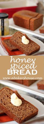 Honey Spice Bread is an easy quick bread that is sweetened with honey. #abakersh…