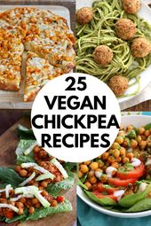25 Easy Chickpea Recipes that are not all Curries. Healthy Vegan Garbanzo Bean Recipes