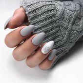 61 Die angesagtesten mandelmatten Nagelideen für Herbst und Winter #herbst #idee …   – Nägel