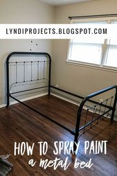 How To Paint A Metal Bed Frame Metal Bed Frame Metal Beds