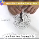 Versatile Portable Design Tool Multi-function Drawing Ruler(BUY 1 GET 2ND 10% OFF)