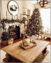 Photo of 135 erstaunliche rustikale Bauernhaus Weihnachten Dekor Ideen Seite 13 | Homydepot.com #farm …