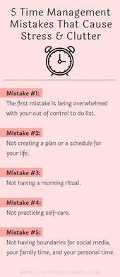 5 Zeitmanagementfehler, die Stress und Unordnung verursachen