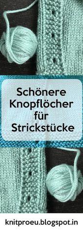 Knit Pro Germany: Nicer buttonholes for knitting – Michaela geselle