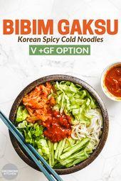 Vegan Bibim Gaksu (Korean Spicy Cold Noodles) – Okonomi Kitchen