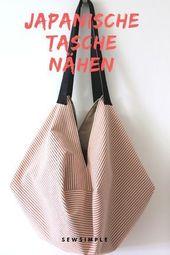 Eine japanische Tasche nähen – das ist ein geniales Nähprojekt für Anfänge…