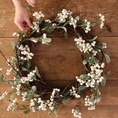 How to Make a White Berry Wreath – Fall DIY